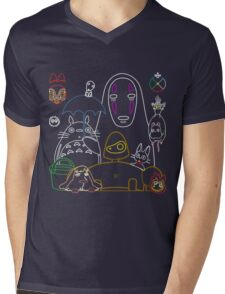 Ghibli mix v2 Mens V-Neck T-Shirt