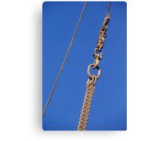 Hanged Crane Steel Chain Canvas Print