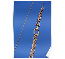 Hanged Crane Steel Chain Poster
