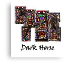 Walking Horse 2 Dark Horse Canvas Print