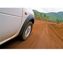 New Caledonia, Grand Terre Island, car on road (blurred motion) Photographic Print