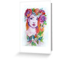 Purple Thorns Greeting Card