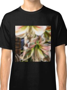 abstract amaryllis in a garden Classic T-Shirt