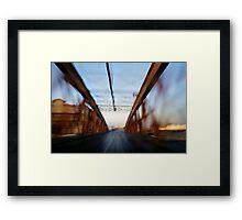 Road bridge (blurred motion) Framed Print