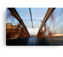 Road bridge (blurred motion) Metal Print