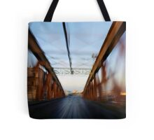 Road bridge (blurred motion) Tote Bag