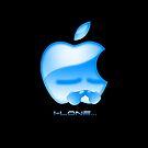 Apple I-Lone Blue by Saing Louis