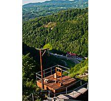 Vlad Tepes castle view Photographic Print