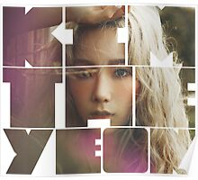 Kim Taeyeon 'I' Typography 5 Poster