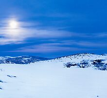 Moon Rise over Falls Creek, Victoria by Christopher Ashdown