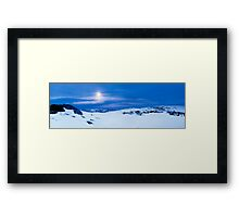 Moon Rise over Falls Creek, Victoria Framed Print