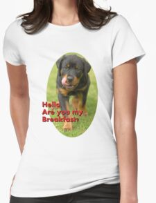 Hello Are You Breakfast Womens Fitted T-Shirt