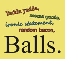 Balls t-shirt by AmundF