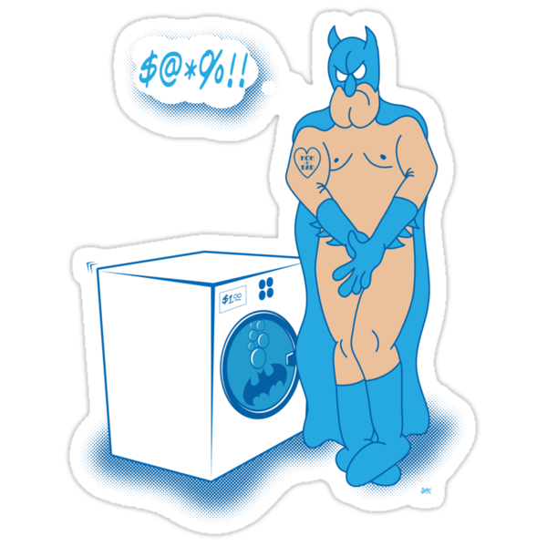 The Caped Crusader Hates Laundry Day! by Summo13