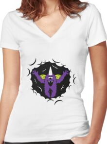 Purple People Eater Women's Fitted V-Neck T-Shirt