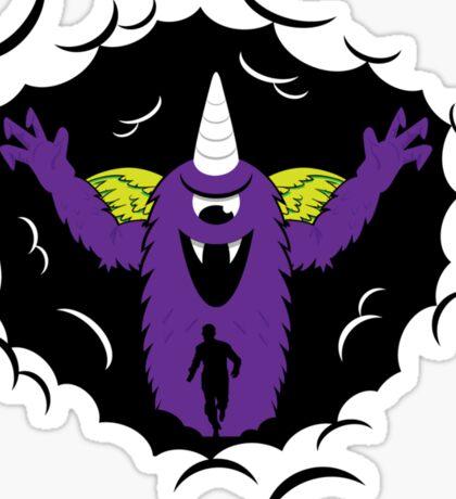 Purple People Eater Sticker