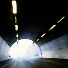 Traffic in road tunnel (blurred motion) by Sami Sarkis