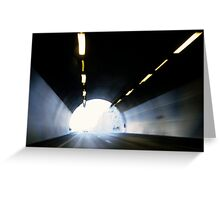 Traffic in road tunnel (blurred motion) Greeting Card