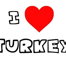 I Heart Turkey by PingusTees