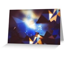 Abstract geometric triangles  Greeting Card
