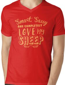 Smart, Sassy and completely love my SHEEP Mens V-Neck T-Shirt