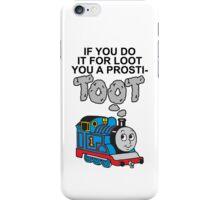 Prosti-TOOT! White Text iPhone Case/Skin
