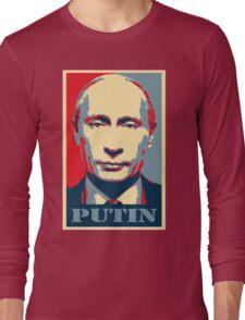 Vladimir Putin, obama poster Long Sleeve T-Shirt