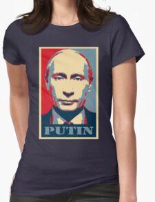 Vladimir Putin, obama poster Womens Fitted T-Shirt