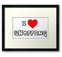 I Heart Shopping Framed Print