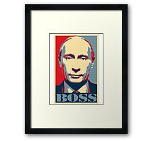 Vladimir Putin, obama poster, boss Framed Print