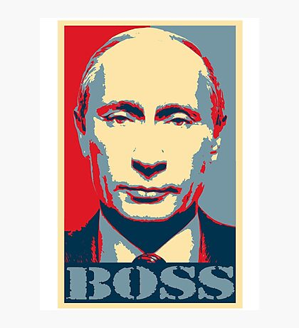 Vladimir Putin, obama poster, boss Photographic Print