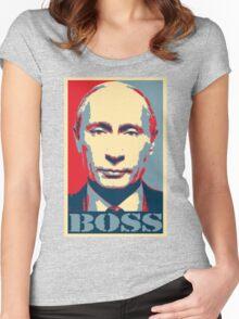 Vladimir Putin, obama poster, boss Women's Fitted Scoop T-Shirt