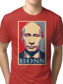 Vladimir Putin, obama poster, boss Tri-blend T-Shirt