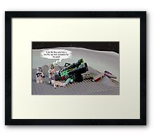 Once upon a time in space ... Framed Print