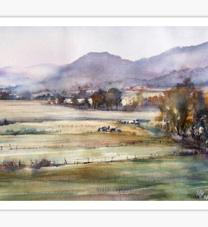 Morning in the Valley Vipava. Slovenia Sticker