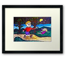 A Walk Through The Woods Framed Print
