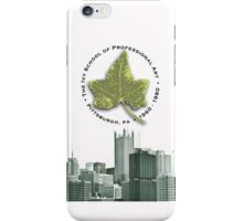 Ivy Circle with Skyline - White iPhone Case/Skin