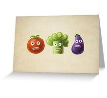 Funny Cartoon Vegetables Greeting Card