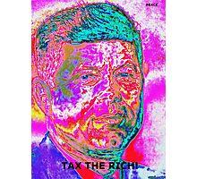 "JFK ""TAX RICH"" Photographic Print"