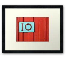 A Ten - Maybe Framed Print