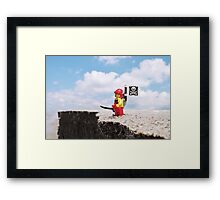 Patrolling the Cliffs Framed Print