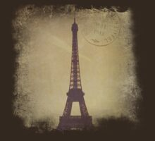 Vintage Eiffel Tower by CalicoCollage