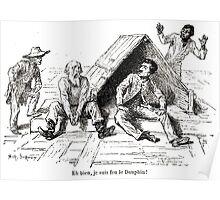 Achille Sirouy Mark Twain Les Aventures de Huck Huckleberry Finn illustration p141 Poster