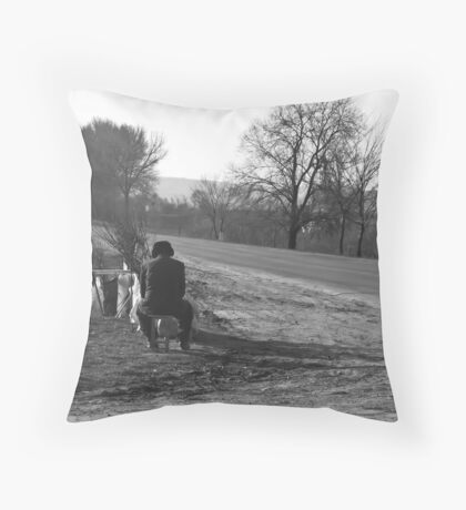 never gave up waiting Throw Pillow
