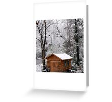 shed in winter Greeting Card