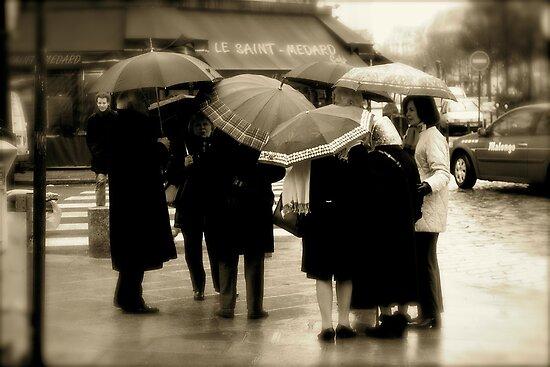 Bla Bla Bla under the Umbrellas ... Paris - Rue Saint Médard by 1more photo