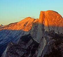 Half Dome at Sunset - Yosemite by Tamara Valjean