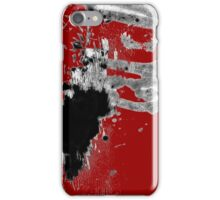 Black White Red Allover  II iPhone Case/Skin