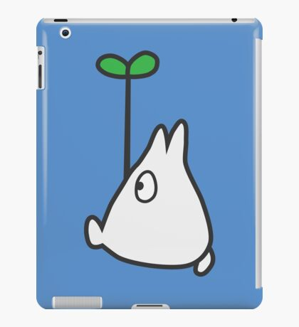 Small White Totoro with Leaf iPad Case/Skin