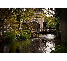 Waterwheel Snuff Mill - Morden Hall, London.  Photographic Print